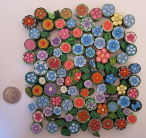 100 polyclay beads for ebay