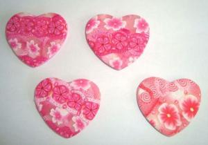Pink Heart Pendants