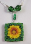 polymer clay waterslide necklace