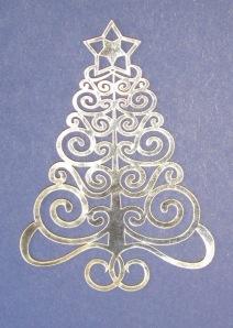 filigree Christmas tree
