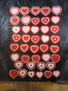 laser cut lacy heart card toppers