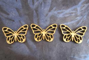 laser cut wooden butterfly beads