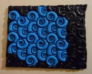 Blue swirl Sutton Slice