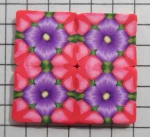 pink and purple flower kaleidoscope cane