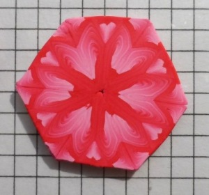 kaleidoscope pink flower cane