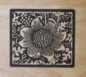william morris laser cut flower