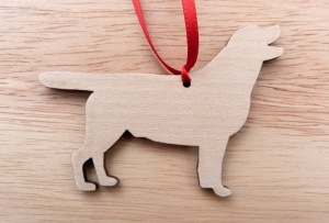 dog silhouette Christmas tree decoration