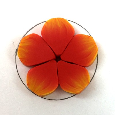 polymer clay flower button shape